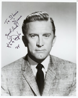 KIRK DOUGLAS - AUTOGRAPHED INSCRIBED PHOTOGRAPH 1984