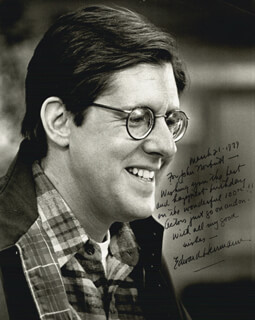 EDWARD HERRMANN - AUTOGRAPH NOTE ON PHOTOGRAPH SIGNED 03/21/1979