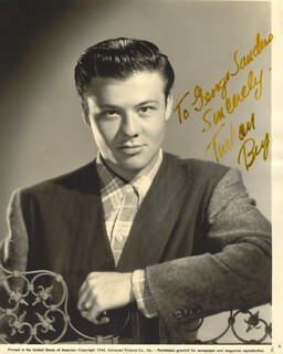 TURHAN BEY - AUTOGRAPHED INSCRIBED PHOTOGRAPH CIRCA 1953  - HFSID 19079