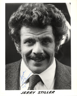 JERRY STILLER - AUTOGRAPHED SIGNED PHOTOGRAPH