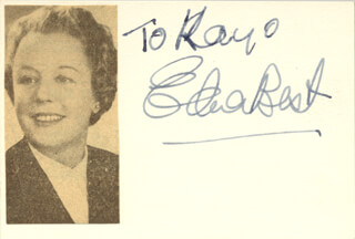 Autographs: EDNA BEST - INSCRIBED SIGNATURE