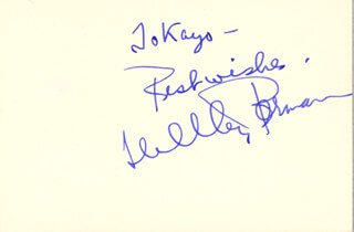 SHELLEY BERMAN - AUTOGRAPH NOTE SIGNED