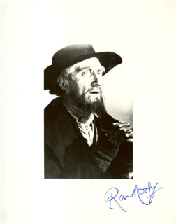 RON MOODY - AUTOGRAPHED SIGNED PHOTOGRAPH