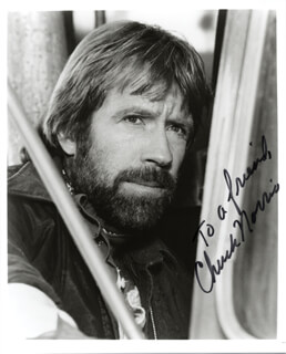 CHUCK NORRIS - AUTOGRAPHED INSCRIBED PHOTOGRAPH