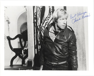 CHUCK NORRIS - AUTOGRAPHED SIGNED PHOTOGRAPH