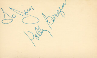 POLLY BERGEN - INSCRIBED SIGNATURE