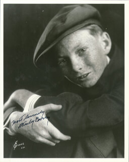 WESLEY BARRY - AUTOGRAPHED SIGNED PHOTOGRAPH