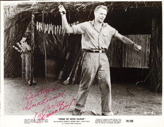 Autographs: BRUCE (HERMAN BRIX) BENNETT - PRINTED PHOTOGRAPH SIGNED IN INK TWICE 05/27/1986