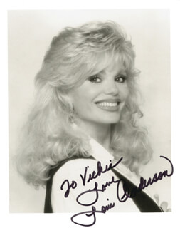 LONI ANDERSON - AUTOGRAPHED INSCRIBED PHOTOGRAPH