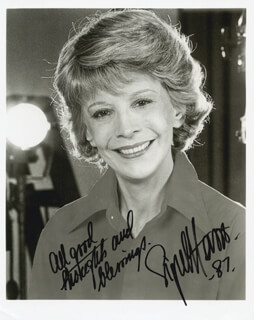 SIGNE HASSO - AUTOGRAPHED SIGNED PHOTOGRAPH 1987