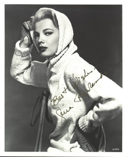 GENA ROWLANDS - AUTOGRAPHED SIGNED PHOTOGRAPH