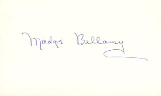 MADGE BELLAMY - AUTOGRAPH