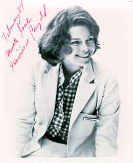 GENEVIEVE BUJOLD - AUTOGRAPHED SIGNED PHOTOGRAPH 02/1984