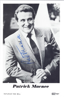 PATRICK MACNEE - PRINTED PHOTOGRAPH SIGNED IN INK