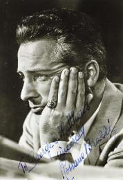 ROSSANO BRAZZI - INSCRIBED PICTURE POSTCARD SIGNED CIRCA 1959