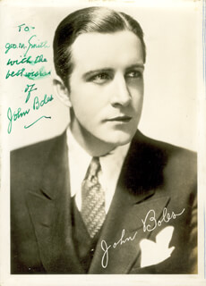 JOHN BOLES - AUTOGRAPHED INSCRIBED PHOTOGRAPH