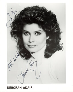 Autographs: DEBORAH ADAIR - PHOTOGRAPH SIGNED