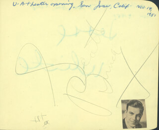 SCOTT BRADY - AUTOGRAPH CIRCA 1951 CO-SIGNED BY: JESSE WHITE
