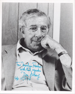 DORE SCHARY - AUTOGRAPHED SIGNED PHOTOGRAPH 04/15/1974