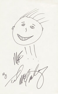 TED McGINLEY - SELF-CARICATURE SIGNED