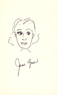 JANE GREER - SELF-CARICATURE SIGNED