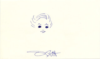 OLIVIA DE HAVILLAND - SELF-CARICATURE SIGNED