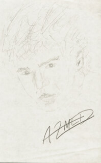 ADRIAN ZMED - SELF-CARICATURE SIGNED