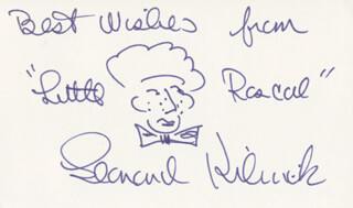 LEONARD KIBRICK - SELF-CARICATURE SIGNED