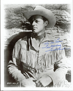 GUY MADISON - AUTOGRAPHED INSCRIBED PHOTOGRAPH