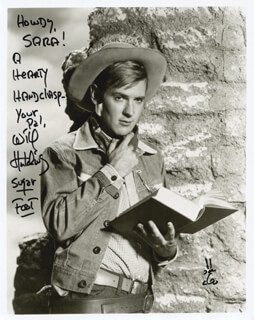 WILL SUGARFOOT HUTCHINS - AUTOGRAPHED INSCRIBED PHOTOGRAPH