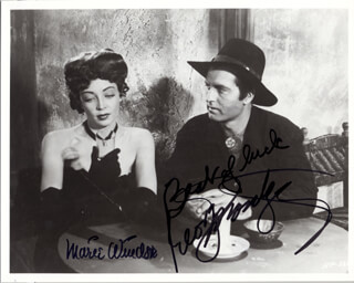 DAKOTA LIL MOVIE CAST - AUTOGRAPHED SIGNED PHOTOGRAPH CO-SIGNED BY: MARIE WINDSOR, GEORGE MONTGOMERY