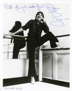 RUTH PAGE - AUTOGRAPHED SIGNED PHOTOGRAPH 11/1978