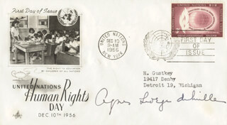 AGNES GEORGE DE MILLE - FIRST DAY COVER SIGNED