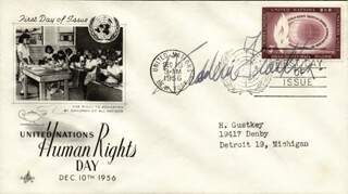 FREDERIC FRANKLIN - FIRST DAY COVER SIGNED