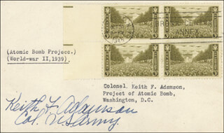 Autographs: KEITH F. ADAMSON - FIRST DAY COVER SIGNED CO-SIGNED BY: SUSAN H. ADAMSON