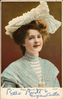 BILLIE BURKE - INSCRIBED PICTURE POSTCARD SIGNED