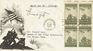 HOWARD GEST - FIRST DAY COVER SIGNED