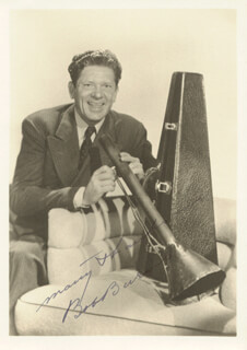 BOB BAZOOKA BURNS - AUTOGRAPHED SIGNED PHOTOGRAPH