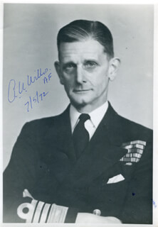 ADMIRAL ALGERNON U. WILLIS - AUTOGRAPHED SIGNED PHOTOGRAPH 05/07/1972