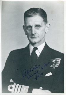 ADMIRAL ALGERNON U. WILLIS - AUTOGRAPHED SIGNED PHOTOGRAPH 07/02/1959