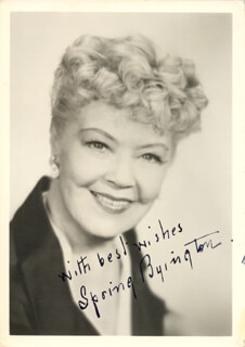 SPRING BYINGTON - AUTOGRAPHED SIGNED PHOTOGRAPH