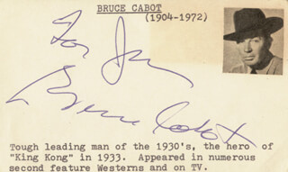 BRUCE CABOT - INSCRIBED CARD SIGNED