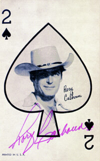 RORY CALHOUN - PLAYING CARD SIGNED