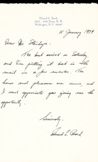 Autographs: CAPTAIN EDWARD L. BEACH - AUTOGRAPH LETTER SIGNED 01/15/1979