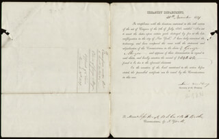 Autographs: ASSOCIATE JUSTICE LEVI WOODBURY - DOCUMENT SIGNED 11/30/1839