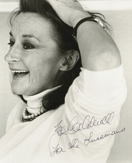 ZOE CALDWELL - AUTOGRAPHED INSCRIBED PHOTOGRAPH