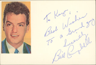 Autographs: WILLIAM CAMPBELL - AUTOGRAPH NOTE SIGNED