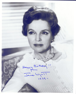 JANE WYATT - AUTOGRAPHED SIGNED PHOTOGRAPH 1979
