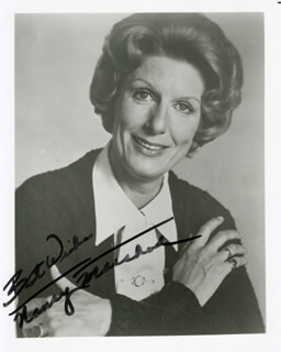 NANCY MARCHAND - AUTOGRAPHED SIGNED PHOTOGRAPH
