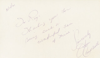 JO ANN CAMPBELL - AUTOGRAPH NOTE SIGNED 03/14/1961